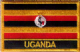Uganda Embroidered Flag Patch, style 09.